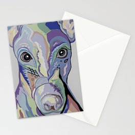 Greyhound in Denim Colors Stationery Cards