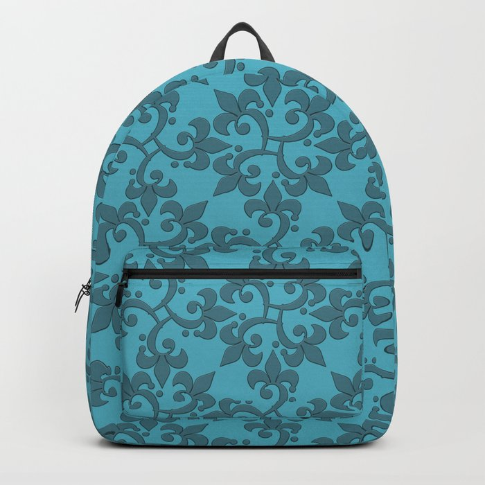 Decorative pattern in retro style. Backpack