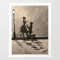 Midnight Proposal Art Print