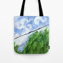 Tress, Wind and Cables Tote Bag