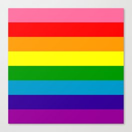 Rainbow Flag (Original Gay Pride Flag Colors) Canvas Print