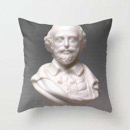 Vintage William Shakespeare Sculpture Photograph (1870) Throw Pillow