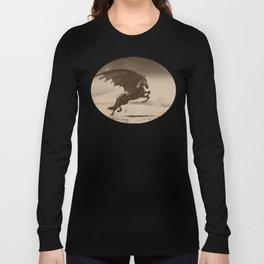 Dark Victorian Portrait Series: A Wonderful Nightmare Long Sleeve T-shirt