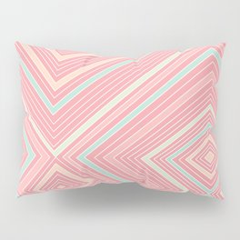 Pink, Green, Yellow, and Peach Lines - Illusion Pillow Sham