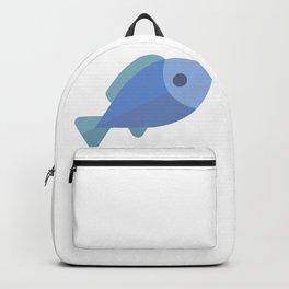 Blue Fish Emoji Backpack