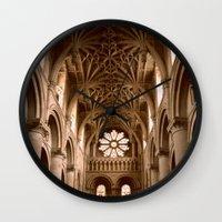 england Wall Clocks featuring Oxford, England by David Hohmann