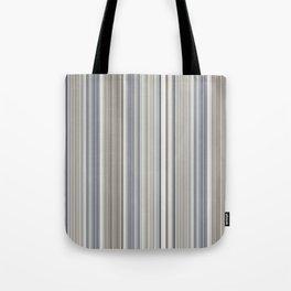 Blue grey Tan Stripes Tote Bag