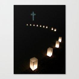 Thirteen Steps To The Cross Canvas Print