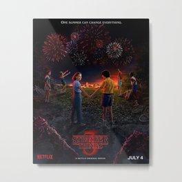 stranger thing season 3 poster Metal Print
