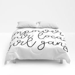 empower girl gang Comforters