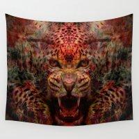 jaguar Wall Tapestries featuring Jaguar by Zandonai