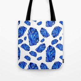 Tanzanite Birthstone Watercolor Illustration Tote Bag