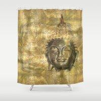 antique Shower Curtains featuring Buddha antique by Digital-Art
