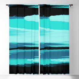 Soft Determination Aquamarine Blackout Curtain