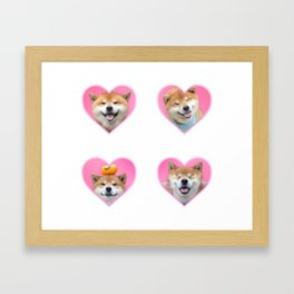 Shiba Sticker Pack Framed Art Print