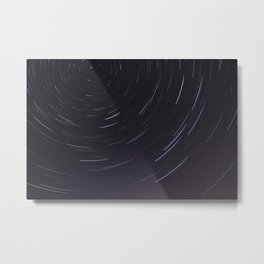 Moving night stars Metal Print