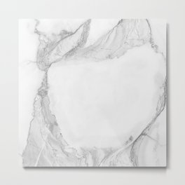 White Marble Edition 4 Metal Print