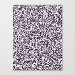 Tiny Spots - White and Dark Purple Canvas Print