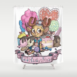 cotton candy prince Shower Curtain