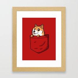 Pocket Shibe (Shiba Inu, Doge) Framed Art Print