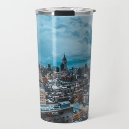Moody skies over Manhattan Travel Mug