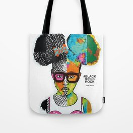 Girl with Afro Puffs Tote Bag