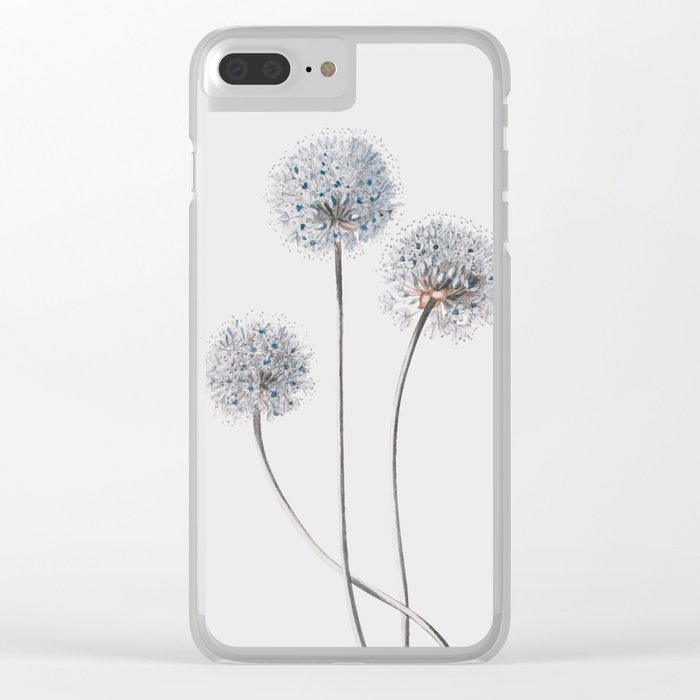 Dandelion 2 Clear iPhone Case