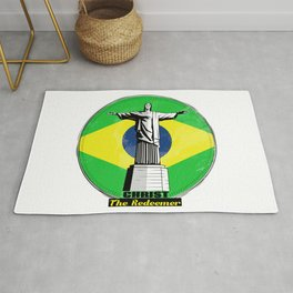 Christ The Redeemer Brazil Rug