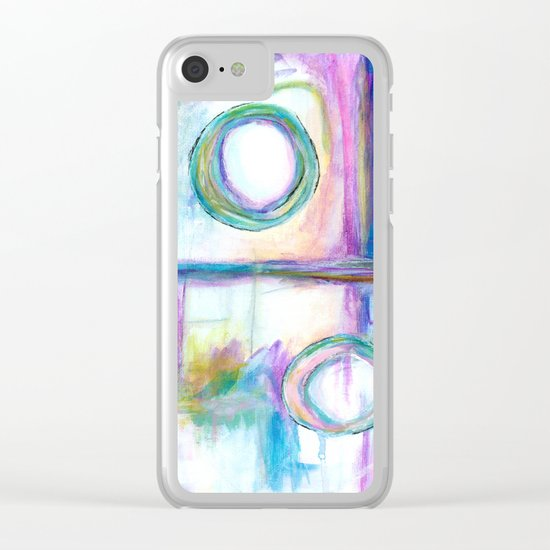 Just the Three of Us, Abstract Art Painting Clear iPhone Case