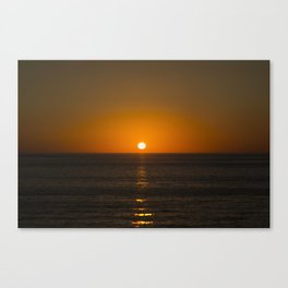 Pure Orange Sunset Canvas Print