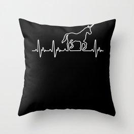 Heart For Unicorns Throw Pillow