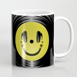 Vinyl headphone smiley Coffee Mug