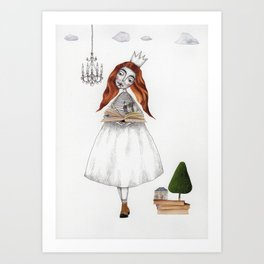 Picture Six: The Book Art Print