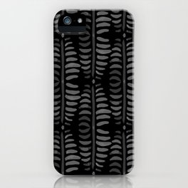 Helecho black pattern iPhone Case