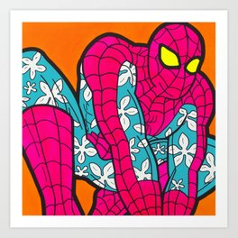 The Speczacular Spider-Man - pop art painting Art Print