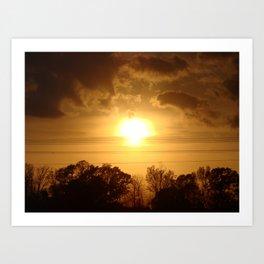 Easter Sunset '10 Art Print