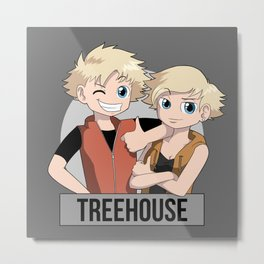Treehouse: Meet the twins Metal Print