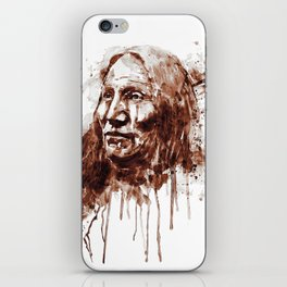 Native American Portrait Sepia Tones iPhone Skin