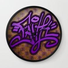 Faith (Graffiti) Wall Clock