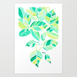 leaves leaving Art Print