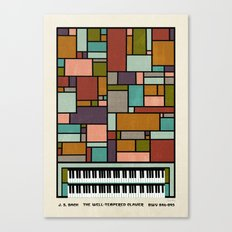 The Well-Tempered Clavier - Bach Canvas Print