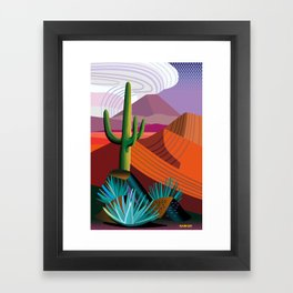 Thunderhead Builds in Arizona Desert Framed Art Print