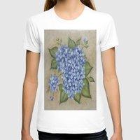 hydrangea T-shirts featuring HYDRANGEA by TRISHSINDOORGARDEN