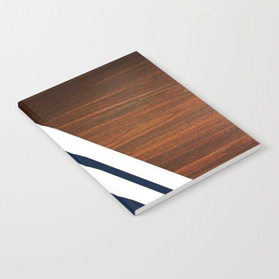 Wooden Navy Notebook