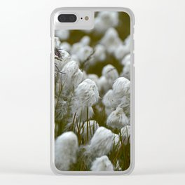 Close up of wild cotton in the field Clear iPhone Case