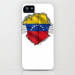 super venezuelan heritage tee venezuela roots flag present zip tee iPhone Case