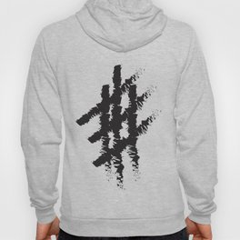 Number sign art work Hoody