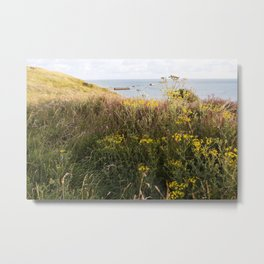 A Lone Reed at Mulberry Harbour Metal Print