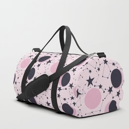 Moon and Stars in pink and blue Duffle Bag