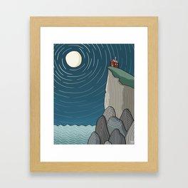 House on a Cliff Framed Art Print